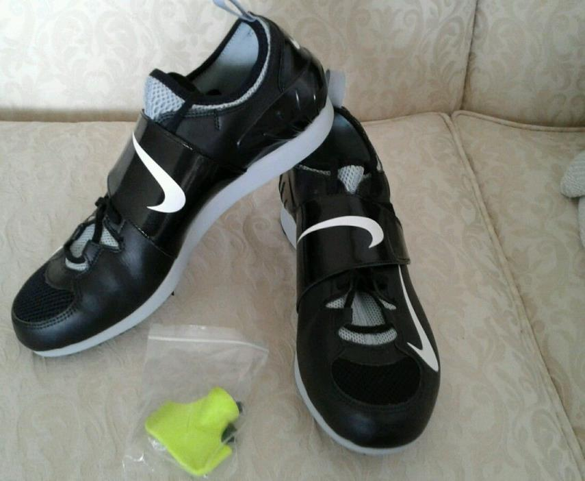 NIKE Zoom PV Pole Vault II 2 Track Spikes Vaulting Shoes Size 11.5 Mens Black