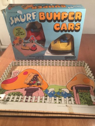 Galoob 1982 Smurf Bumper Cars Original Box