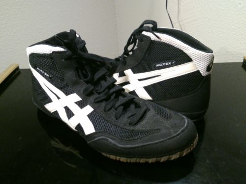 Asics JY701 Matflex Wrestling Mat Black Shoes Men US 11