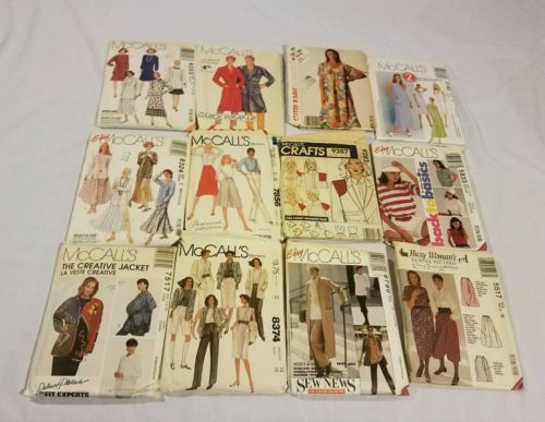 12 uncut vintage mccalls sewing patterns lot vtg with directions