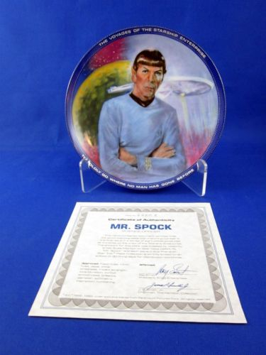 Vintage Star Trek Hamilton Collection Plate Spock