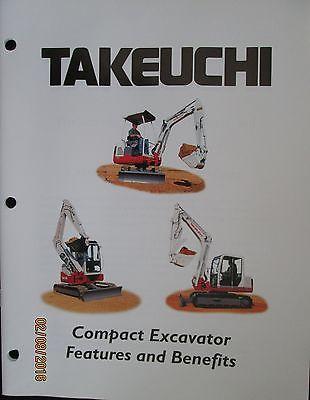 TAKEUCHI Compact Excavator Features and Benefits Brochure Factory Original