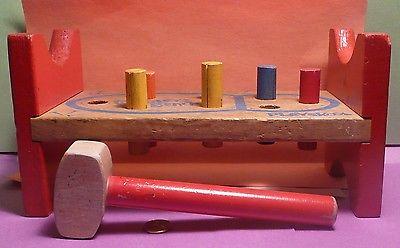 Vintage Playskool Cobblers Bench hammer 6 pins