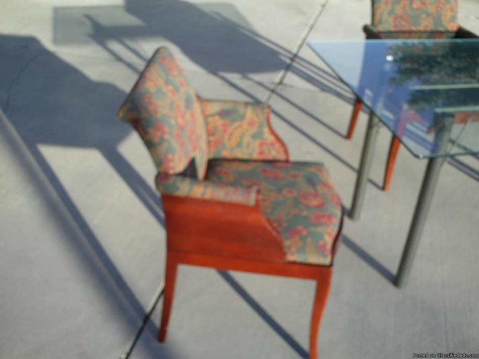 Red mohogany arm chairs/ free yable