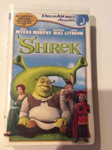 Shrek Clamshell VHS DreamWorks Movie