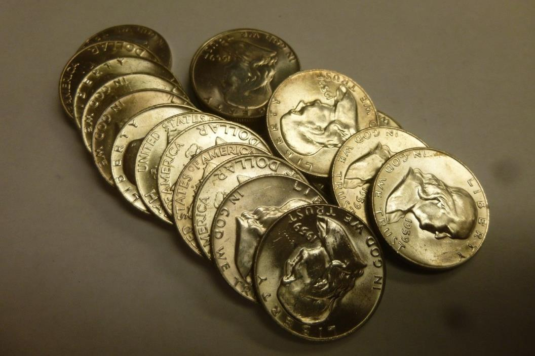 1959-D BU Uncirculated Roll of Ben Franklin Half Dollars