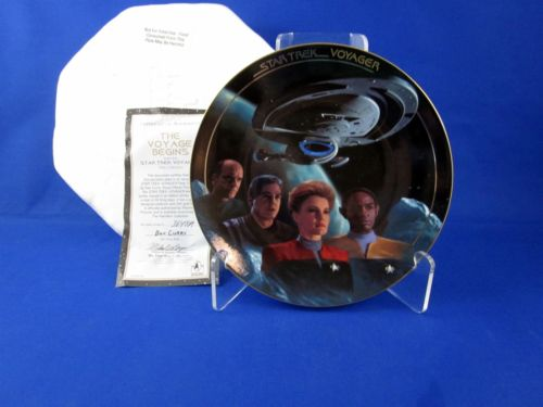 Vintage Star Trek Hamilton Collection Plate The Voyage Begins