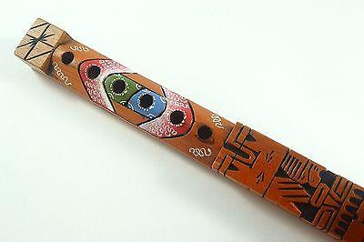 Wooden Tiki Totem Pole Flute Whistle 12