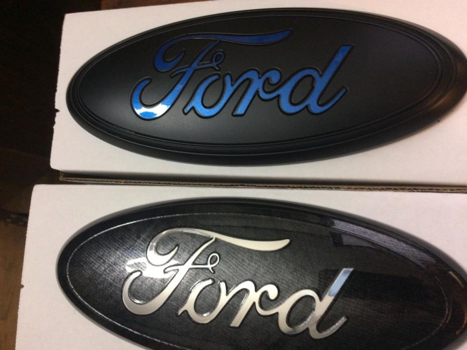 2015-16-17 Black MATTE,Blue Ford F-150 Emblem SET(Grill & Tailgate)CUSTOM PAINT