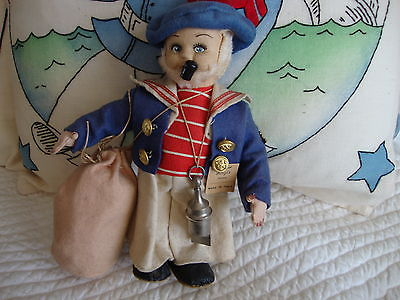 Vintage sailor doll made in Italy