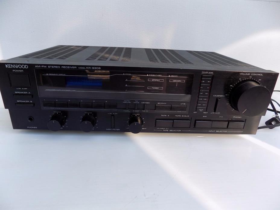 Kenwood KR-930 B Stereo Receiver, Old School
