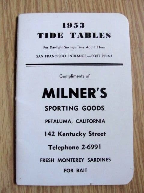 1953 Golden Gate Bridge TIDE TABLES San Francisco ~Map ~ Johnson Ad ~ 32pp