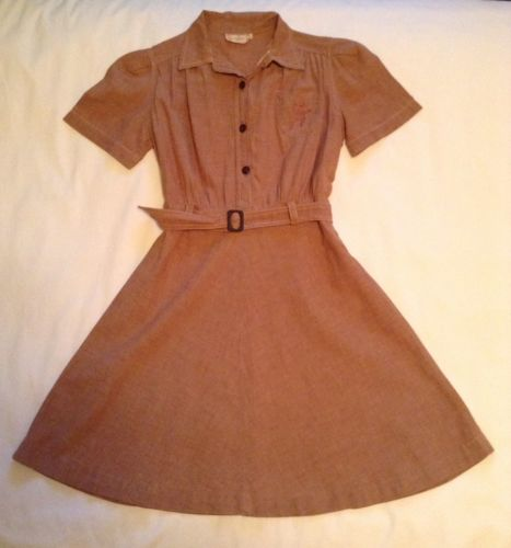 Vintage Girl Scout Brownie Uniform Dress