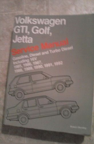 Volkswagen Gti, Golf, Jetta: Service Manual : Gasoline, Diesel and Turbo Diesel