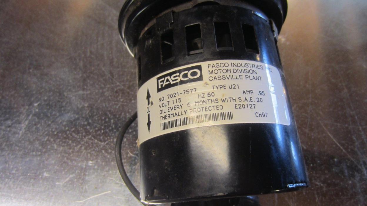 Fasco 7021-7577 Rheem Ruud + others, Water Heater Power Vent Motor