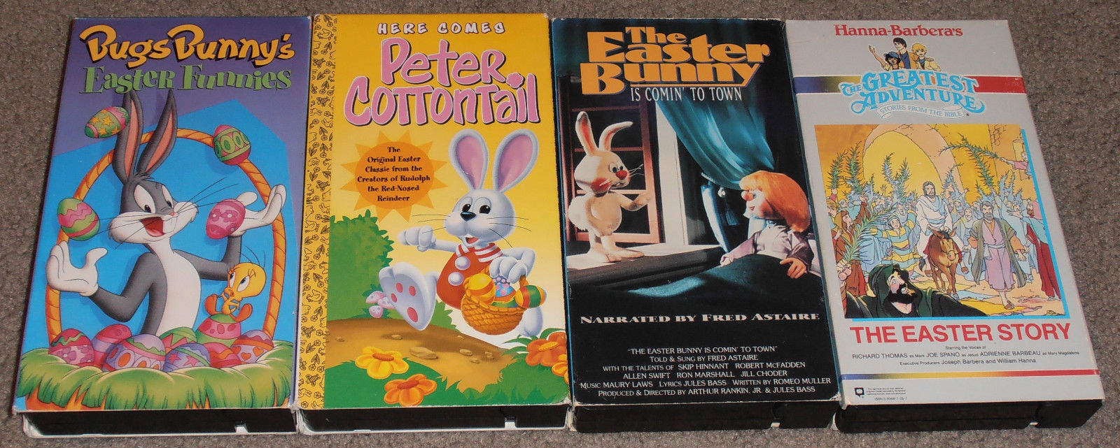 4 Childrens Kids EASTER VIDEOS VHS Easter Bunny is Comin' to Town, Easter Story