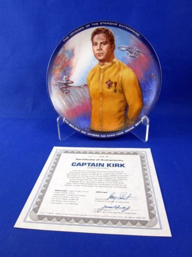 Vintage Star Trek Hamilton Collection Plate Captain Kirk