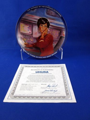 Vintage Star Trek Hamilton Collection Plate Uhura