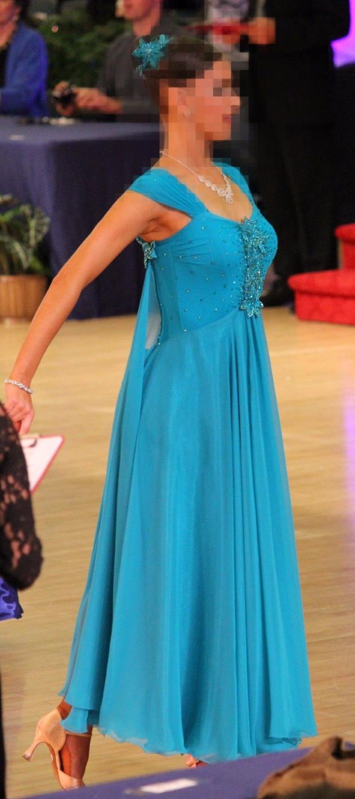 Turquoise Ballroom Dance Dress