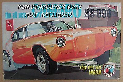 ??VINTAGE AMT 1970 Chevy Camaro SS396 Y-720 Drag Parts & Wrinklewall Slicks !