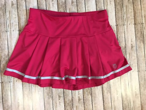 K Swiss Womens Pink Pleated Cheerleader Tennis Skort Size M