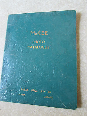 McKee Bros Photo Catalog Elmira Ontario Canada Old Equipment Ebro Tractor Rare