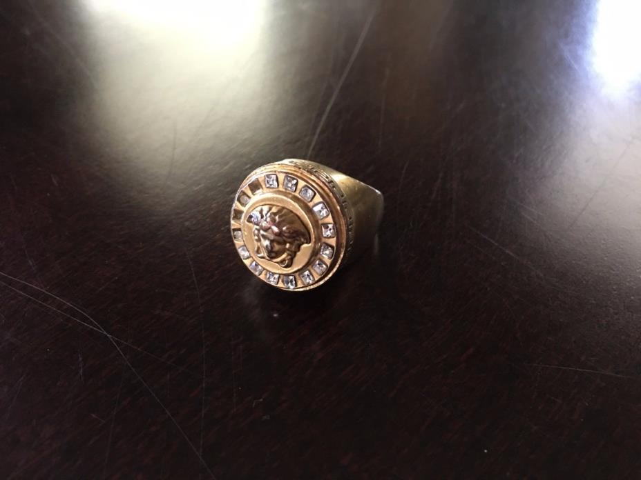 Authentic Versace Medusa Ring Gold Plated Sovereign Ring Size 6.5 US / 13 IT