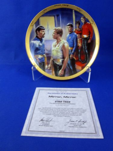 Vintage Star Trek Hamilton Collection Plate Mirror, Mirror