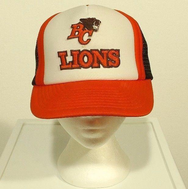 vintage BC LIONS snapback hat trucker mesh