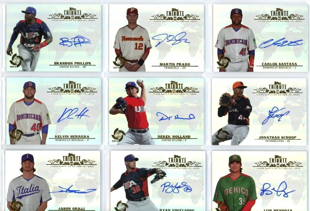 9 Cards 9 Autographs lot Topps Tribute Baseball 2013 WBC