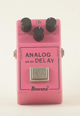 Ibanez Analog Delay AD-80 Guitar Effects Pedal - Vintage