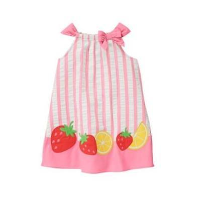 pink striped dress Gymboree NEW Strawberry Sweetheart size 5t baby girl