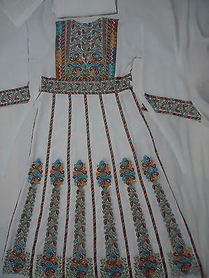 Jordanian Palestinian Embroidered Thobe Abaya Caftan Middle Eastern Women Dress