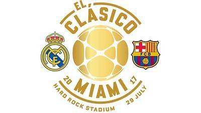3 Tickets for El Clasico Miami Section 154, Row 27, and Parking Pass 7/29/17