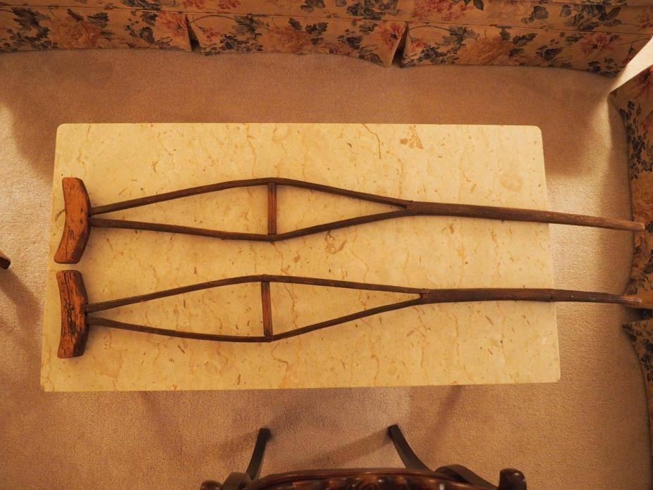 antique, primitive handmade crutches