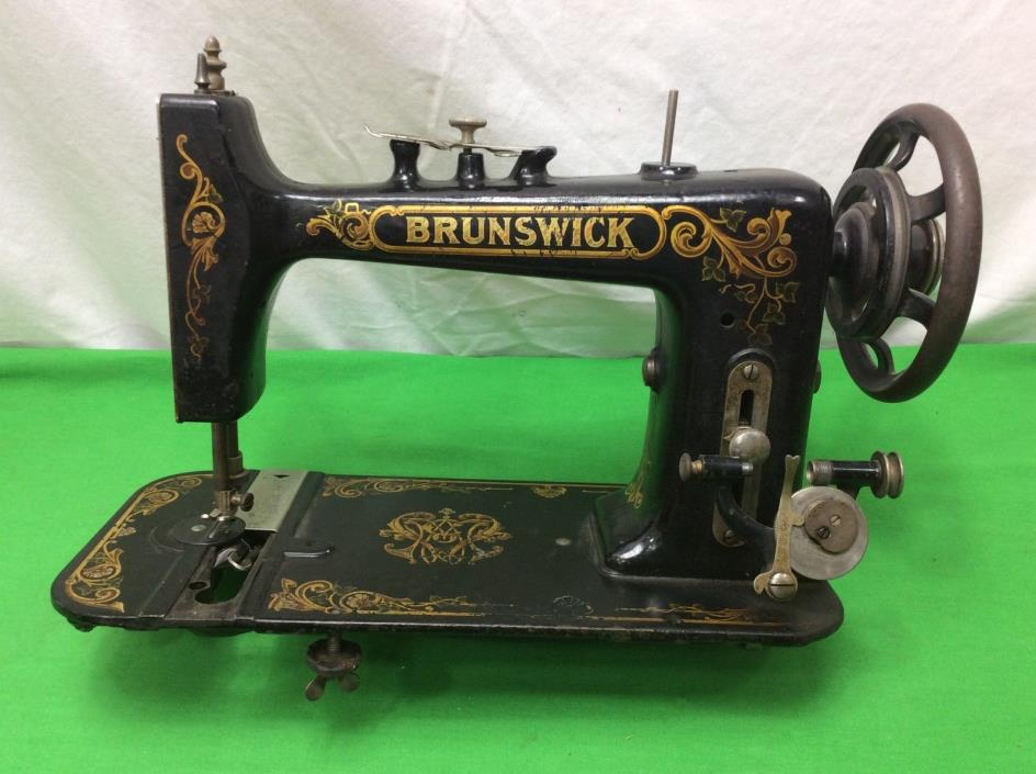 Antique Brunswick Treadle Sewing Machine Head