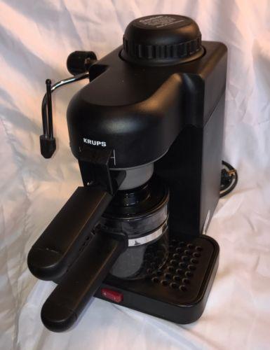 KRUPS ESPRESSO CAPPUCCINO MINI 4-CUP COFFEE MAKER BLACK 963