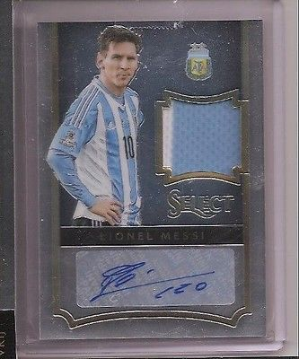 2015 Panini Select Soccer Lionel Messi Auto Jersey 2 colors Jersey Card #01/46