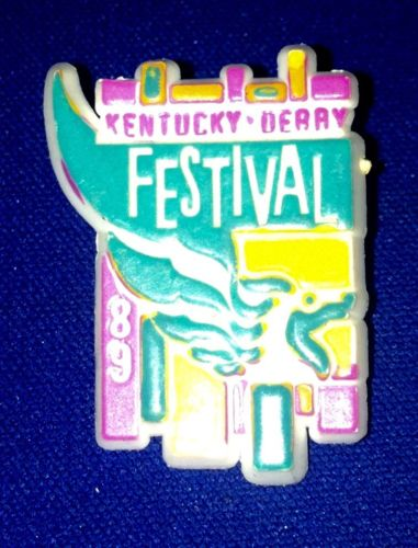 KENTUCKY DERBY Festival 1989 Vintage Plastic Lapel Hat Pin