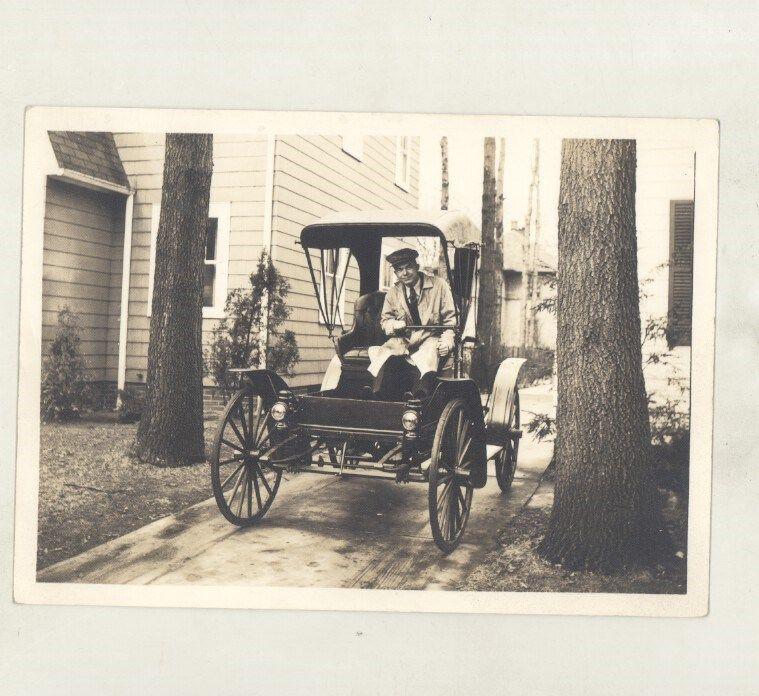 1910 Sears High Wheeler Highwheeler Bunny Phillips ORIGINAL Photo ww6837
