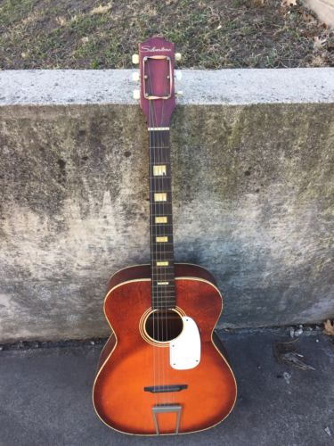 Vintage Silvertone Acoustic Guitar ?? Used