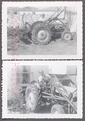 Vintage Photos Men in Ford 9N Farming Tractor 747869