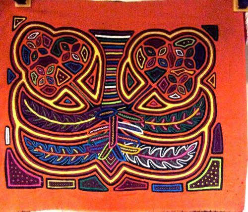 Vintage Mola Kuna Indian San Blas Panama Three Layers Colorful