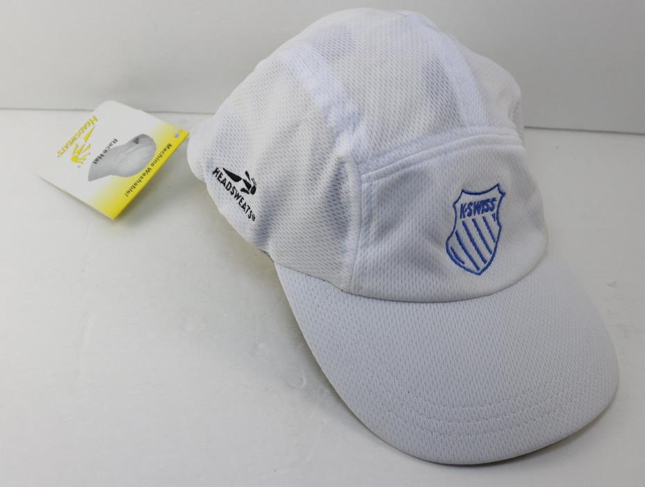 Headsweats K-Swiss Runner Tennis Triathalon Hat Cap, White,