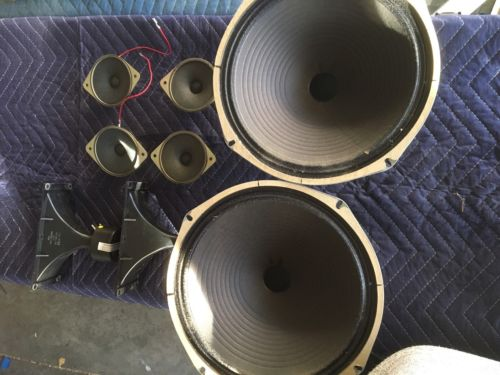 Zenith Stereo Console Vintage Speakers 12