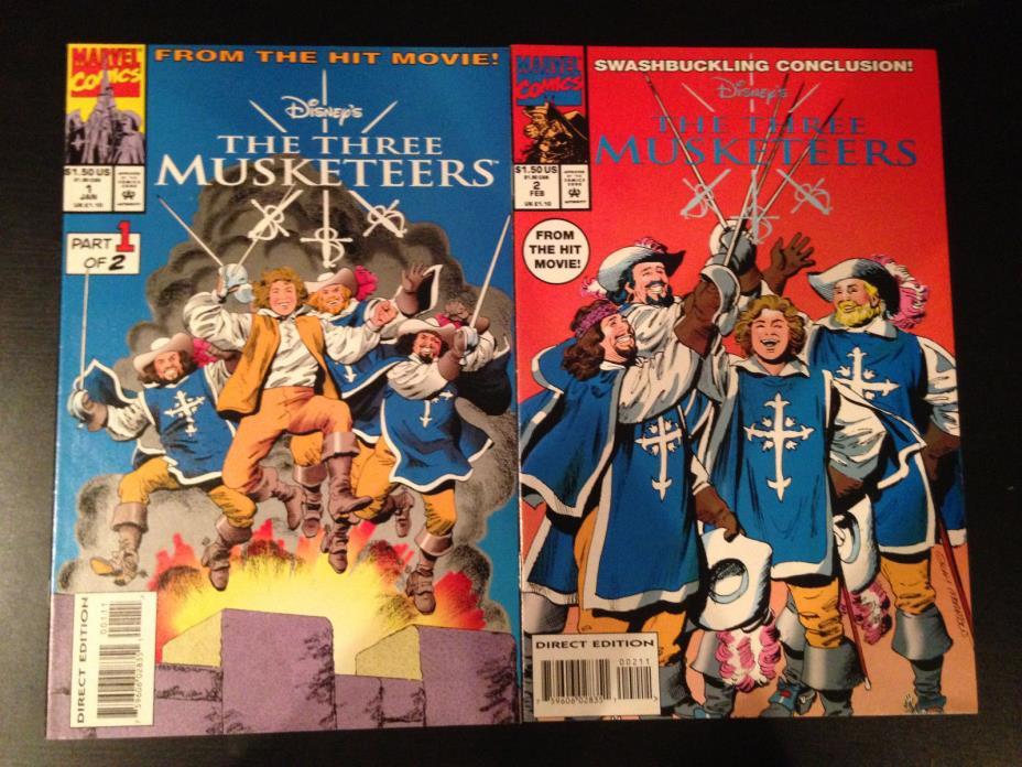THE THREE MUSKETEERS COMIC SET DISNEY MOVIE ADAPTATION MARVEL COMICS 1994