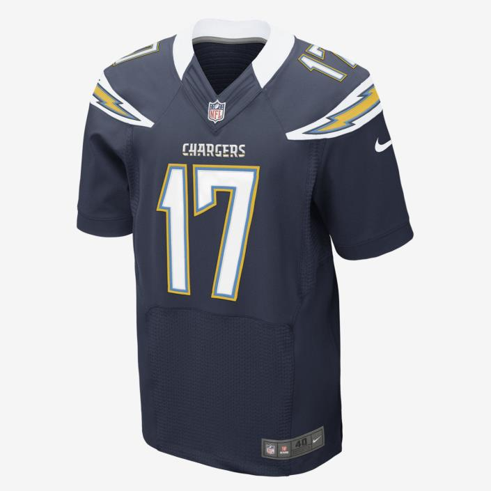 SZ56 NIKE NFL SAN DIEGO CHARGERS ELITE JERSEY (PHILIP RIVERS) FOOTBALL JERSEY