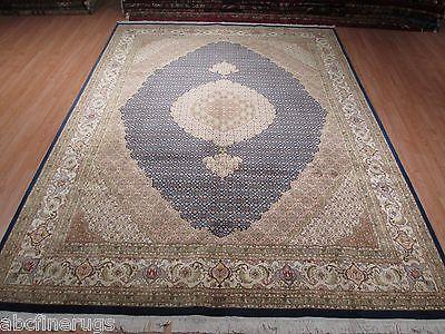 9x12 SUPER FINE Persian Tabriz MAHI Intricate Hand-knotted Wool/Silk Rug 580732