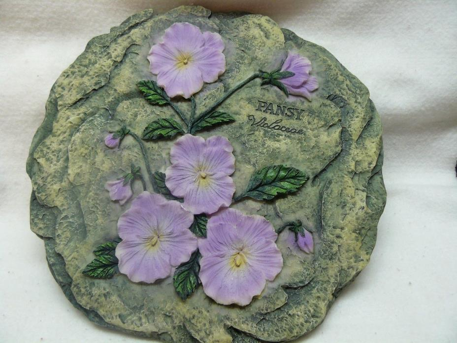 Home Decor Pansy Wall Plaque