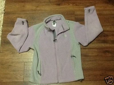 Girl's The North Face purple/Gray Fleece Jacket Full Zip Size: M (10/12)
